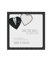 Save the date romantique robe et costume