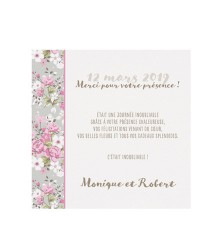 Save the date élégant bandeau fleuri