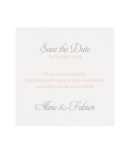 Save the date classique