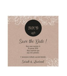 Save the date tendance kraft