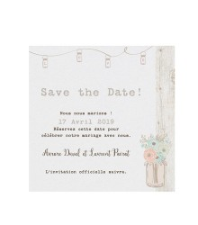 Save the date vintage lanternes