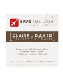 Save the date tendance embarquement