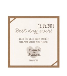 Save the date design kraft
