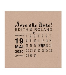 Save the date déco style calendrier