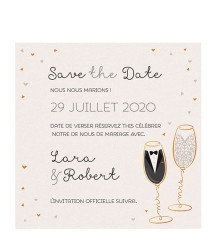 Save the date tendance coupe de champagne