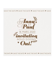 Save the date tendance personnalisable