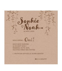 Save the date nature papier kraft