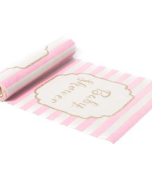 Chemin de table baby shower fille