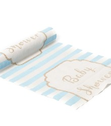 Chemin de table baby shower garçon