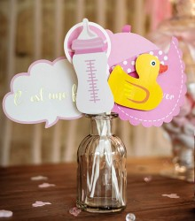 Accessoires photobooth baby shower fille