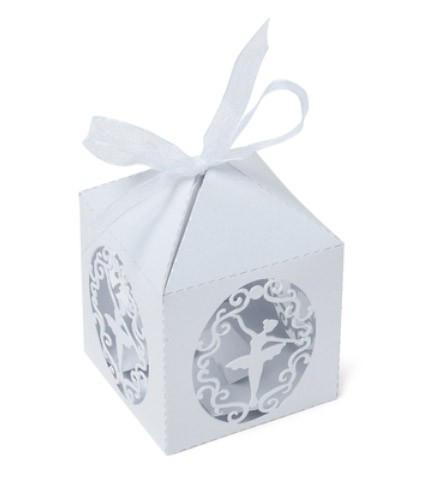 Boîte à dragées danseuse blanc