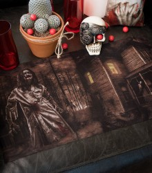Chemin de table jetable halloween zombie