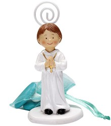 Figurine communion porte-nom garcon