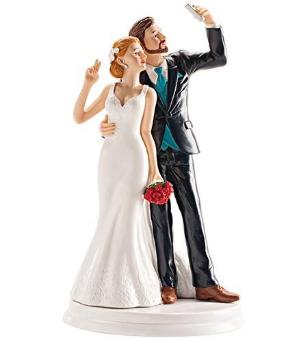 Figurine Gâteau Mariage Selfie