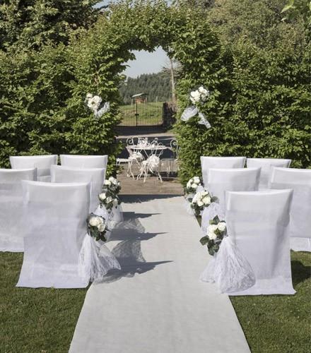 Tapis mariage blanc pour cérémonie d'église en tissu non tissé de 15 m