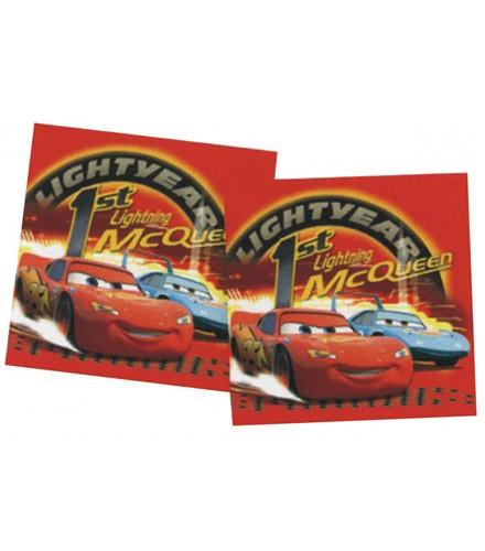 16 serviettes Cars