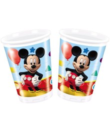 8 gobelets jetables plastique Mickey 20 cl