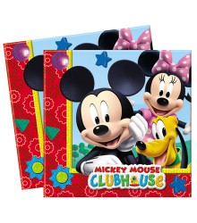 20 serviettes jetables papier Mickey