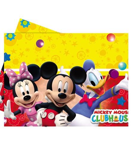 Nappe jetable rectangulaire en plastique Mickey