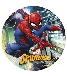 8 assiettes jetables en carton Spiderman