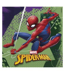 20 serviettes jetables papier Spiderman