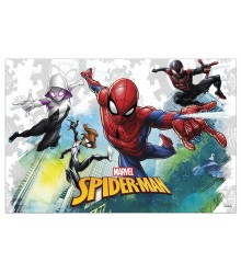 Nappe jetable rectangulaire en plastique Spiderman