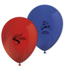 8 ballons gonflables Spiderman rouge et bleu