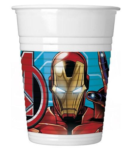 8 gobelets jetables plastique Avengers