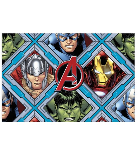 Nappe jetable rectangulaire en plastique Avengers