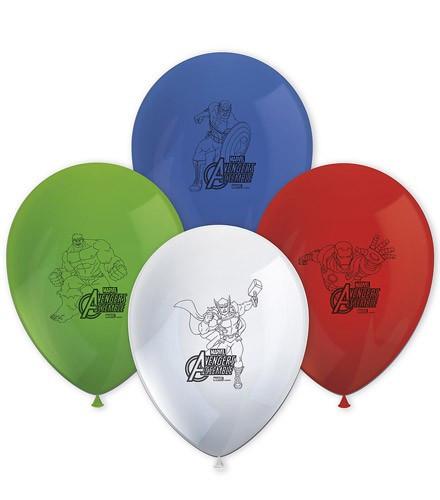 8 ballons gonflables Avengers vert/rouge/bleu/blanc