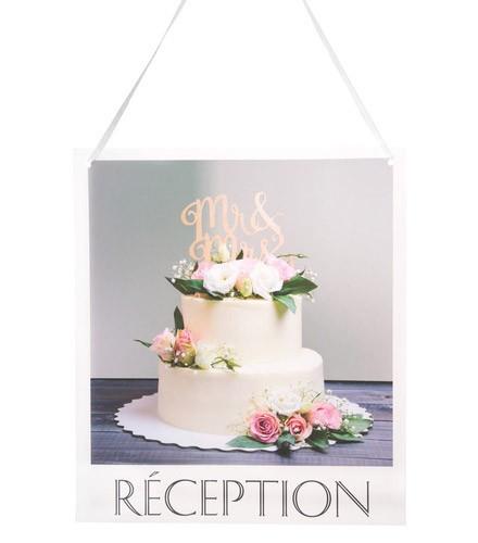 Pancarte mariage carton parking/toilettes/cocktail/réception