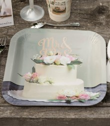10 assiettes jetables mariage carton chic