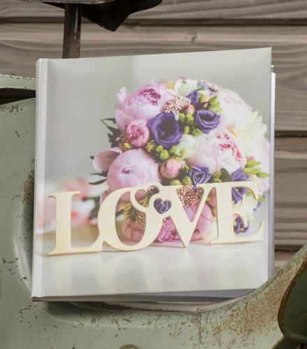 Livre d'or mariage chic avec photos