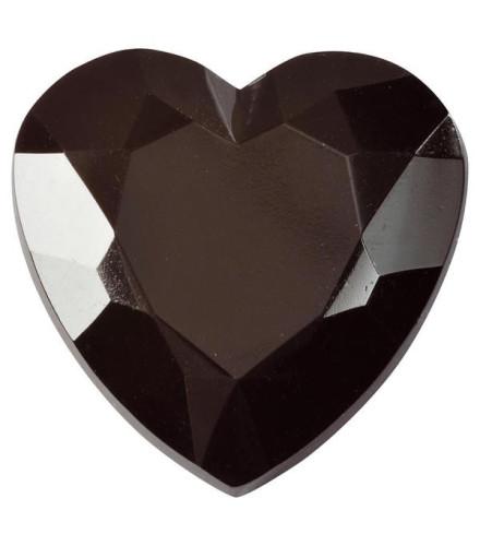 6 diamants cœur en plastique déco colorés