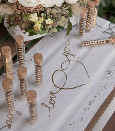 Chemin De Table Mariage Or
