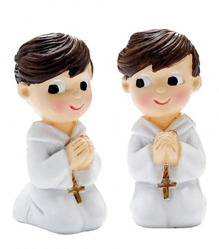 Sujet à dragées Communion figurine garçon en résine 4,5 cm