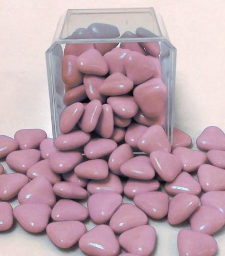 Dragées coeur chocolat pas cher rose - 1 kilo