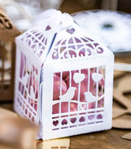 Contenants à dragées discount cage à oiseaux