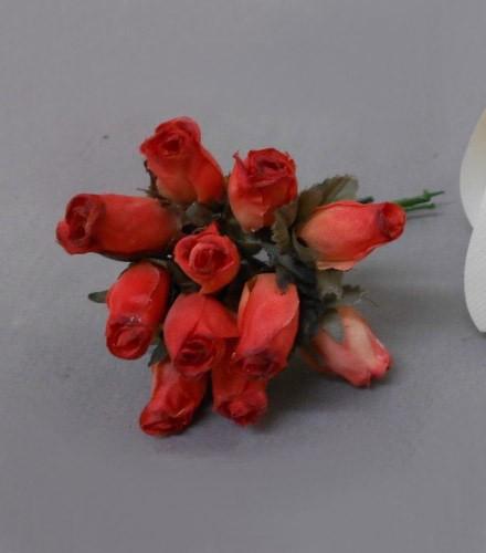 12 tulipes déco dragées en tissu colorées