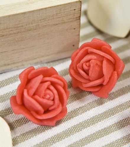 6 roses autocollantes colorées