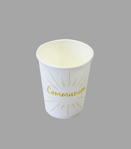 6 gobelets jetables carton Communion Argent/or
