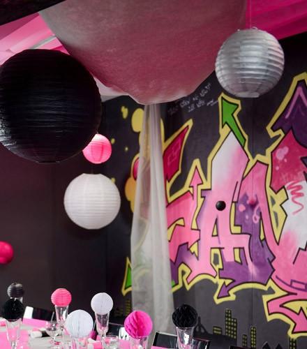 Tenture mariage colorée pour plafond en tissu intissé 10 m
