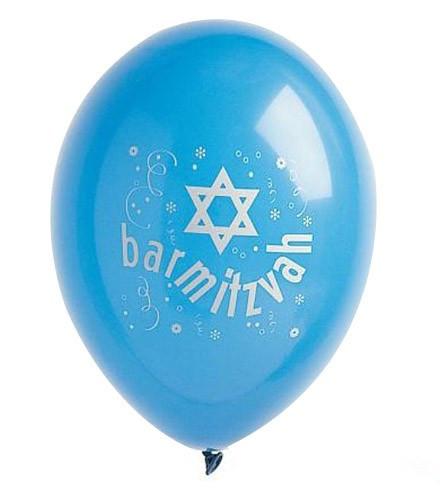 Ballon Géant Bar Mitzvah bleu/blanc 1 m