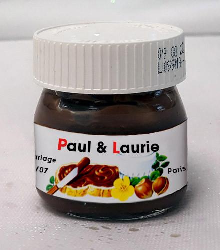 Mini pot Nutella ® en verre 25g personnalisé