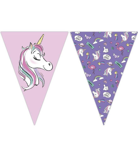 Guirlande anniversaire Minnie avec fanions en papier