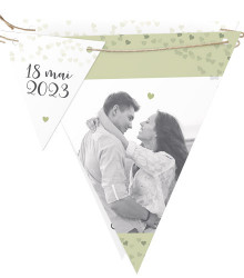 Faire-part mariage original triangle