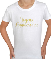 T-shirt homme anniversaire or