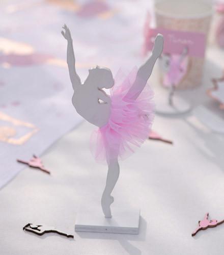 Centre de table ballerine tutu rose bois
