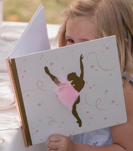 Livre d'or anniversaire ballerine rose gold