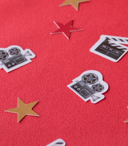 50 confettis de table cinéma assortis